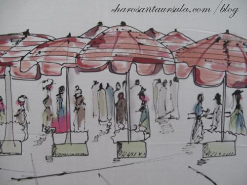 """Paseo por París"". Pintura en Seda.CHaro"